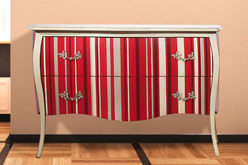 Two Drawer Hall Chest (Striped)