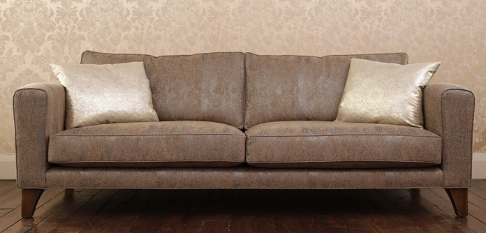 Voltaire Sofa from John Sankey in Cobra Pewter