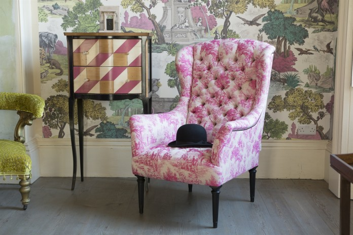 Wainwright Chair By John Sankey, here shown in 'Bizet Hot Pink'