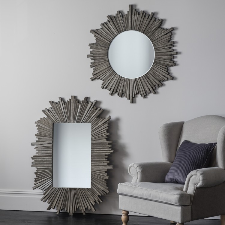 Starburst Mirrors in round or oval