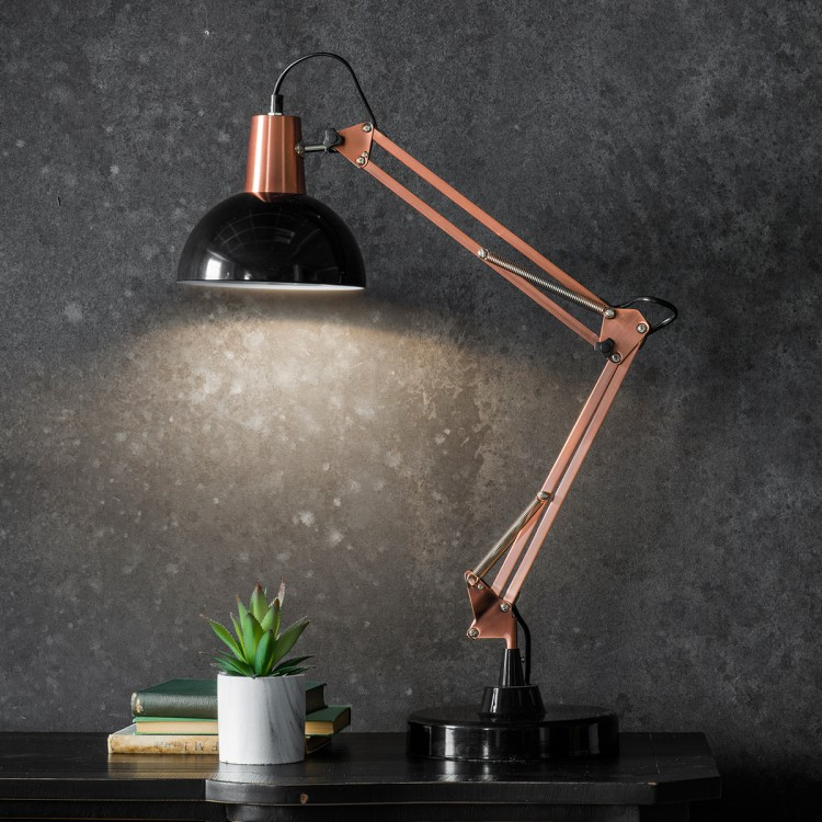 Black & Bronze Anglepoise Lamp