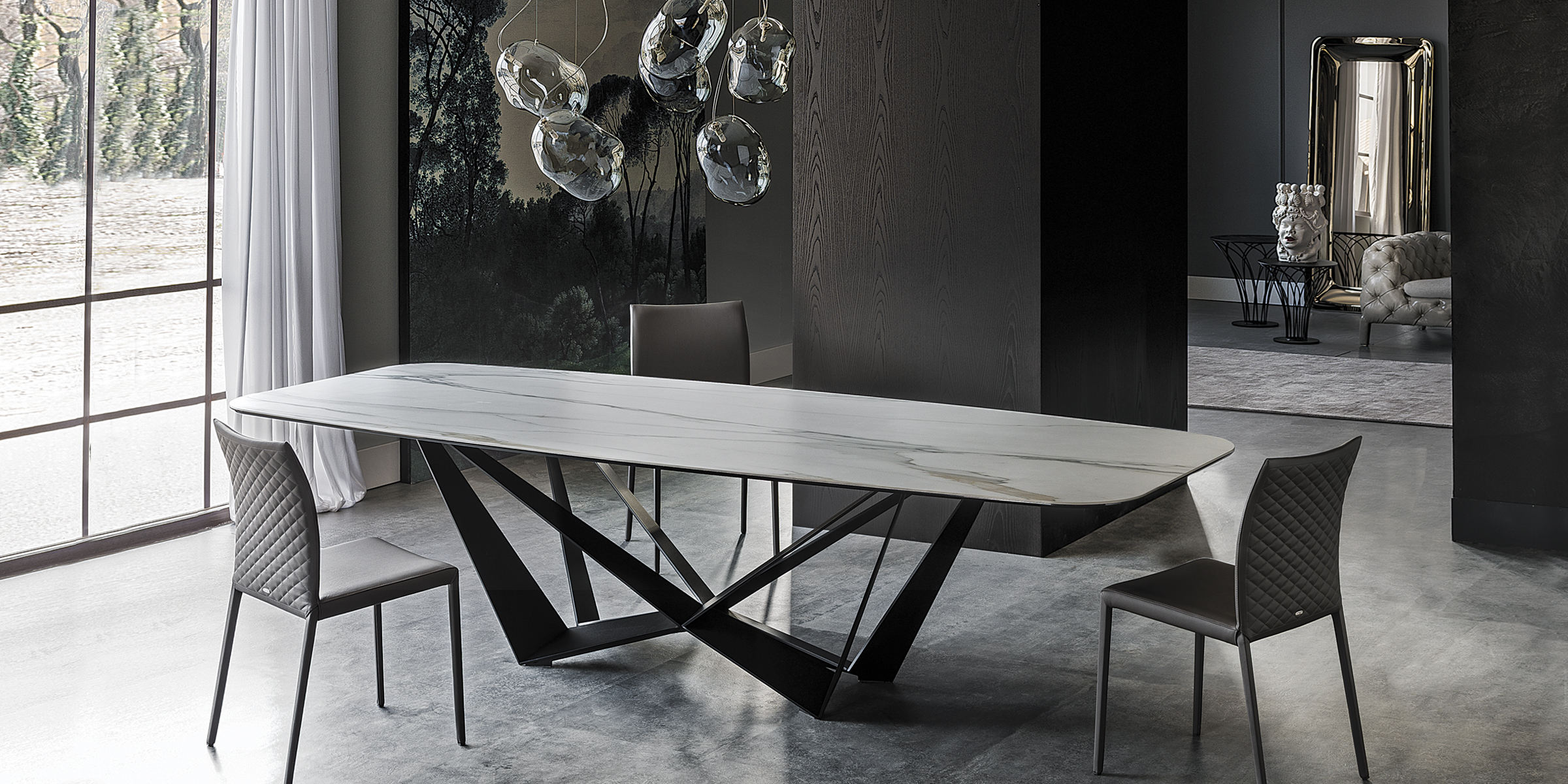 Skorpio Dining Table by Cattelan Italia