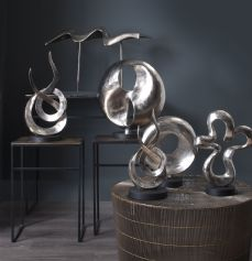 Abstract Sculptures in silver finish