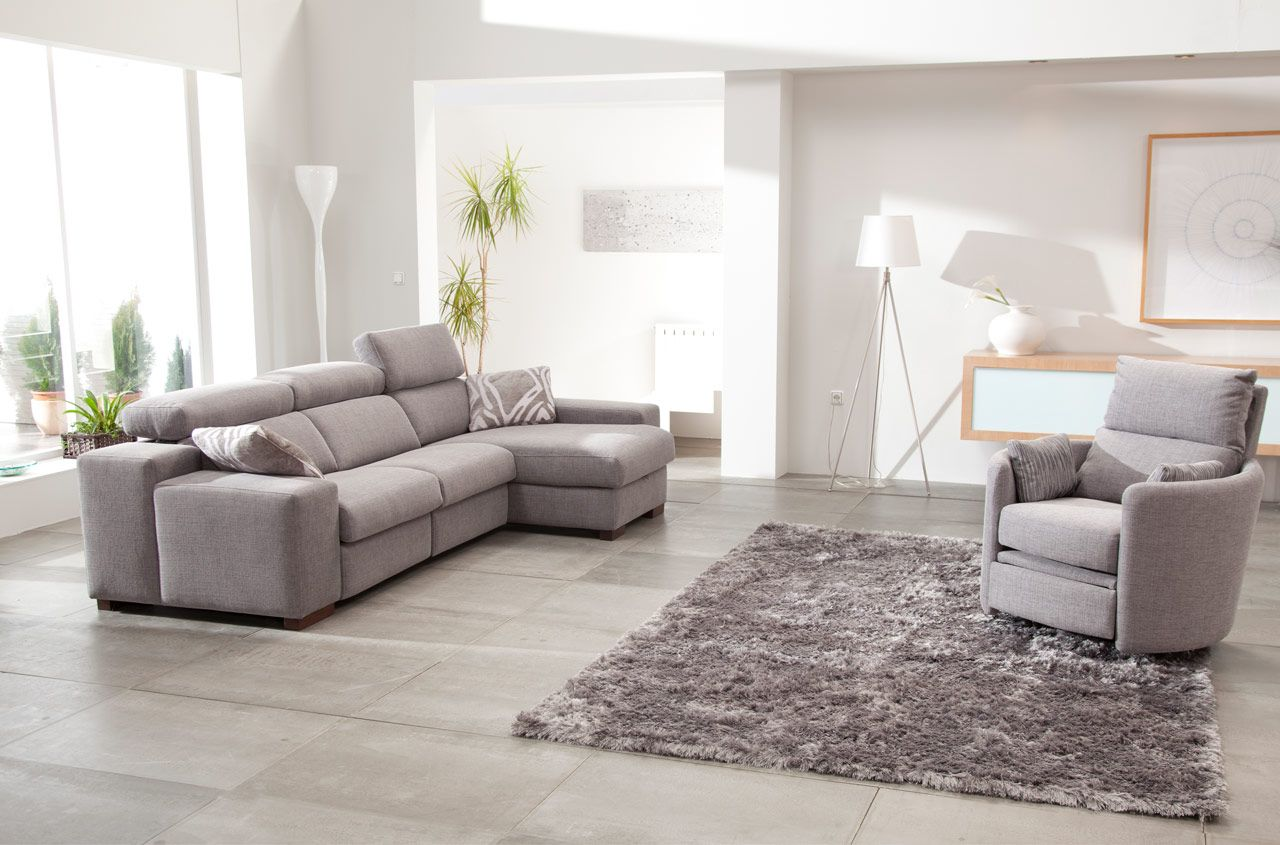 Reclining Venus chair and Lotus Sofa with chaise module