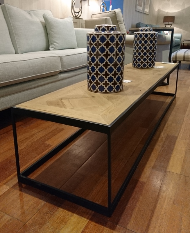 Parquetry top coffee table