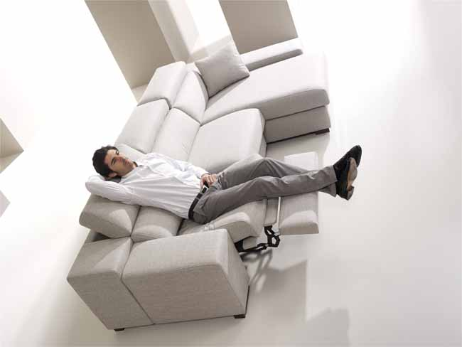 Lotus Sofa with electric recliner and chaise