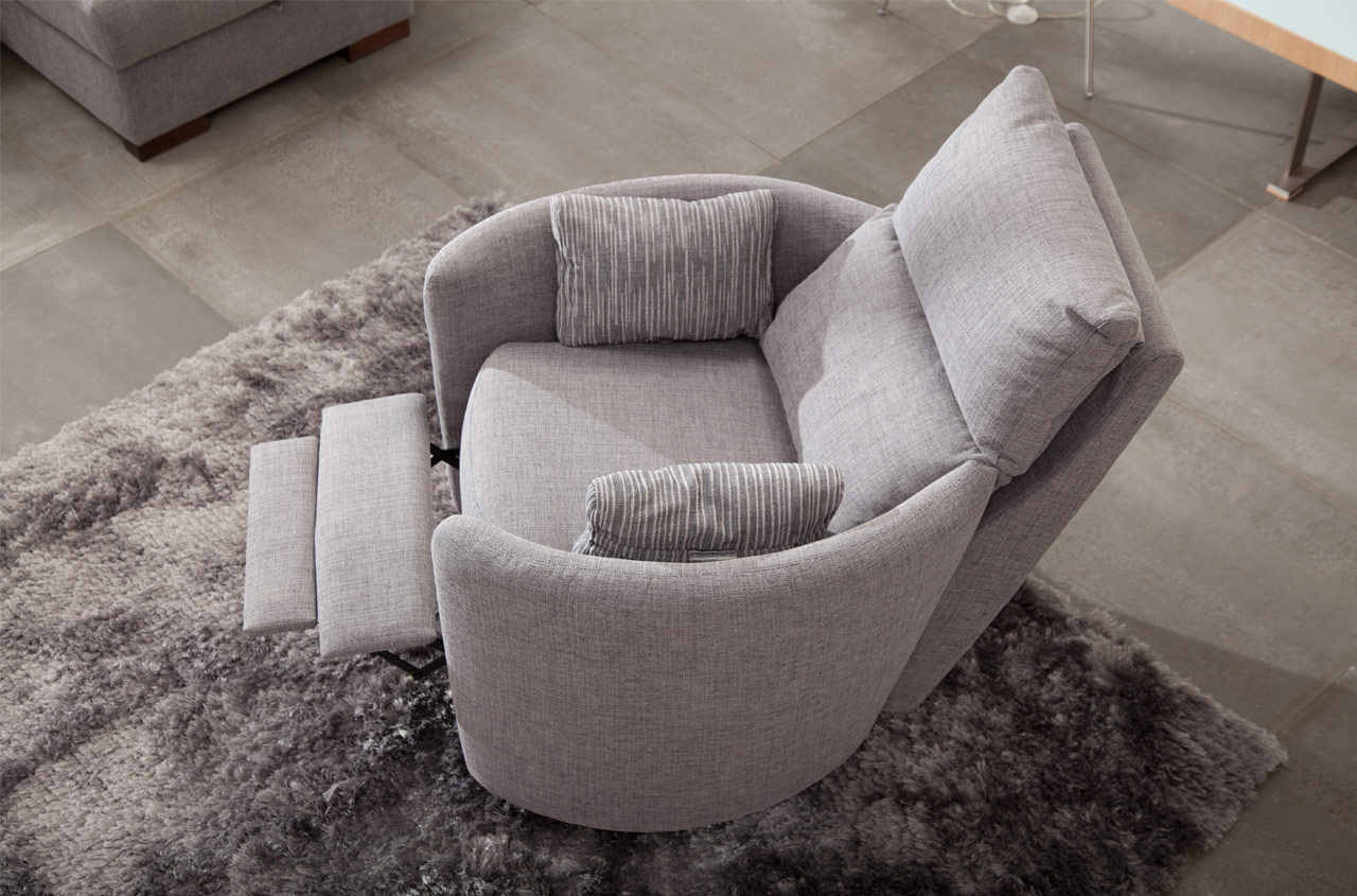 Venus reclining chair in fabric
