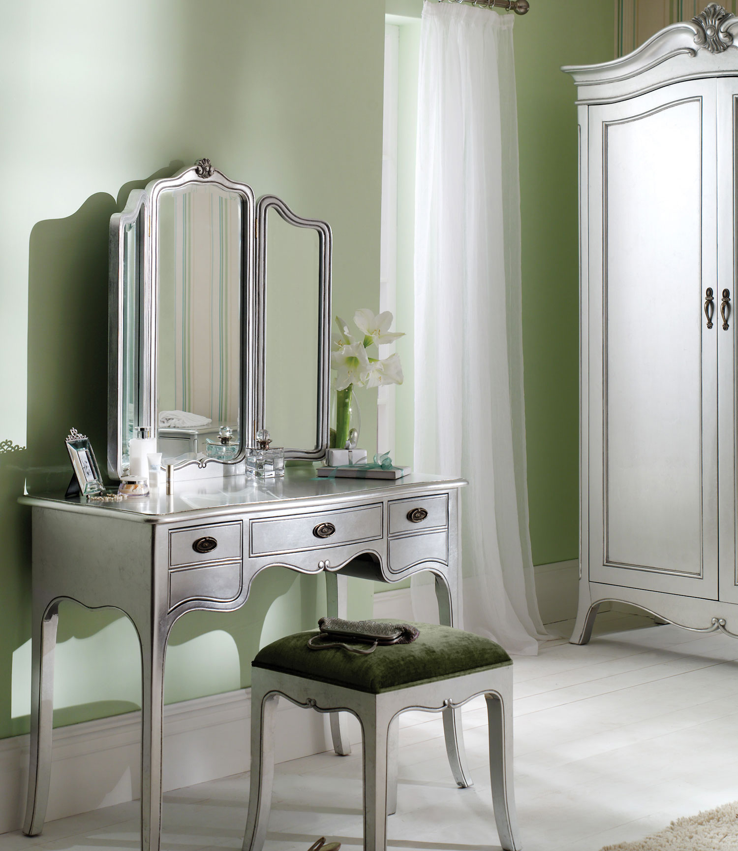 Silver Bedroom Dressing Table