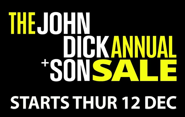 John Dick and Son 2019-Blog-Header Our Annual Sale starts Thursday 12th December Uncategorized